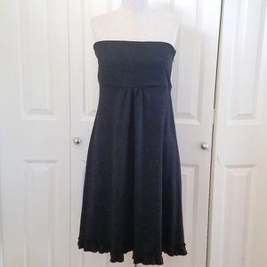 J. CREW Strapless Dress Black Wool NEW 12